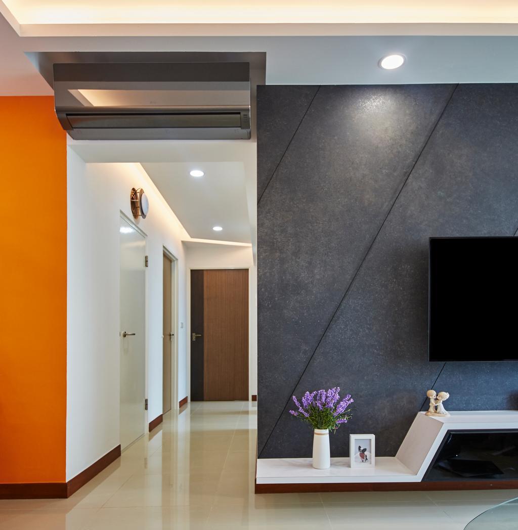 Modern, HDB, Living Room, Punggol Drive, Interior Designer, Carpenters 匠, Building, Housing, Indoors, Loft