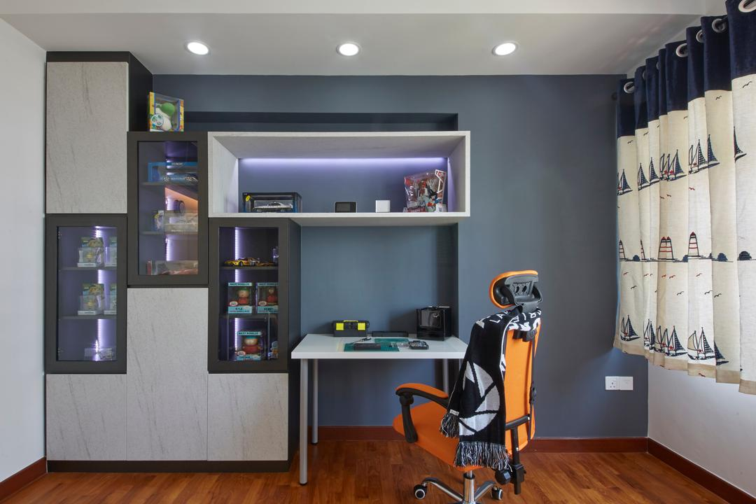 Punggol Drive, Carpenters 匠, Modern, Study, HDB, Desk, Furniture, Table, Chair