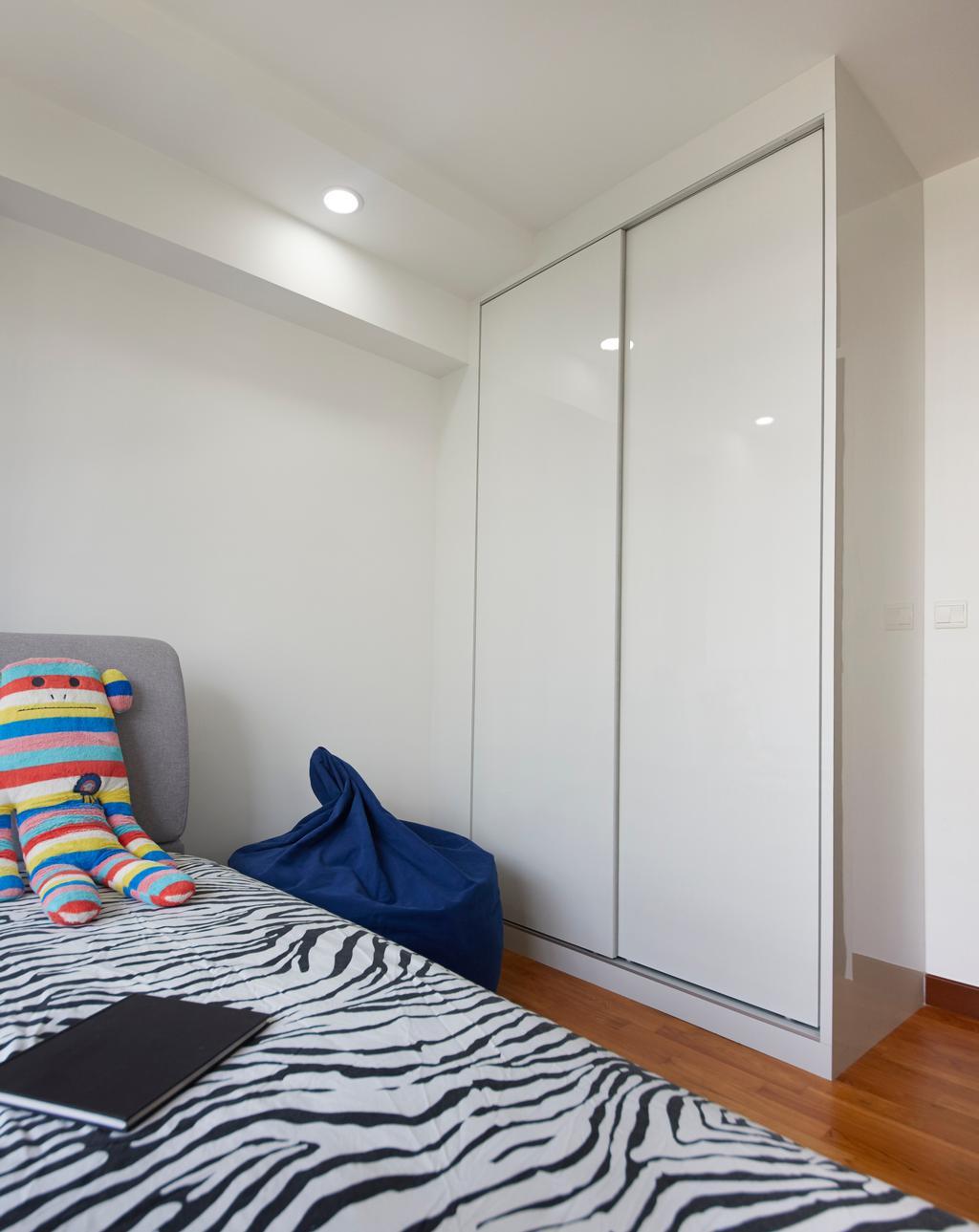Modern, HDB, Bedroom, Punggol Drive, Interior Designer, Carpenters 匠, Chair, Furniture, Blanket, Home Decor