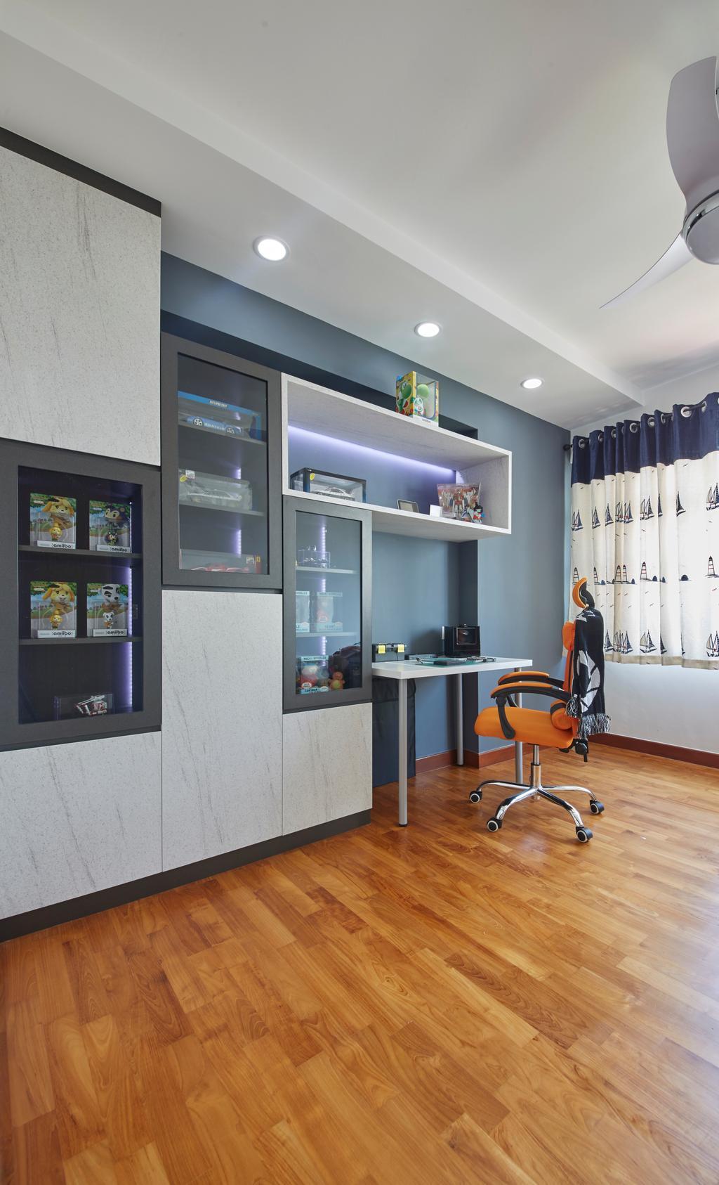 Modern, HDB, Study, Punggol Drive, Interior Designer, Carpenters 匠, Chair, Furniture, Indoors, Interior Design