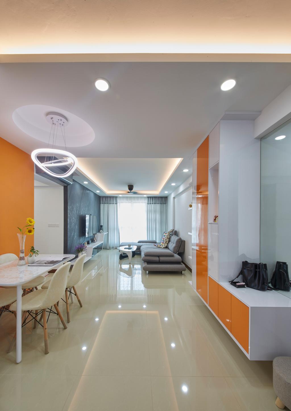 Modern, HDB, Living Room, Punggol Drive, Interior Designer, Carpenters 匠, Indoors, Interior Design, Couch, Furniture, Clinic, Hospital