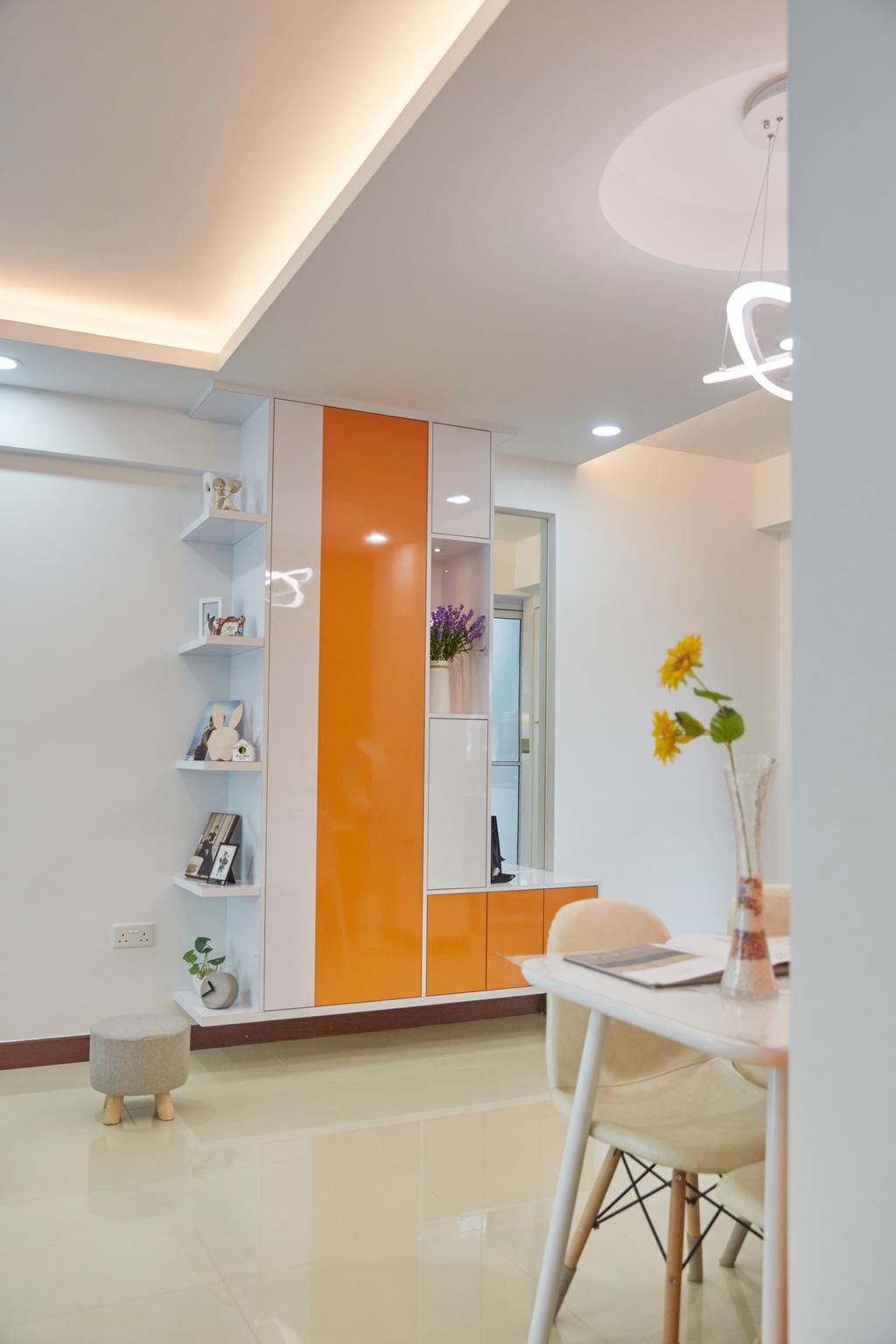 Modern, HDB, Living Room, Punggol Drive, Interior Designer, Carpenters 匠, Flora, Jar, Plant, Potted Plant, Pottery, Vase, Indoors, Interior Design, Shelf