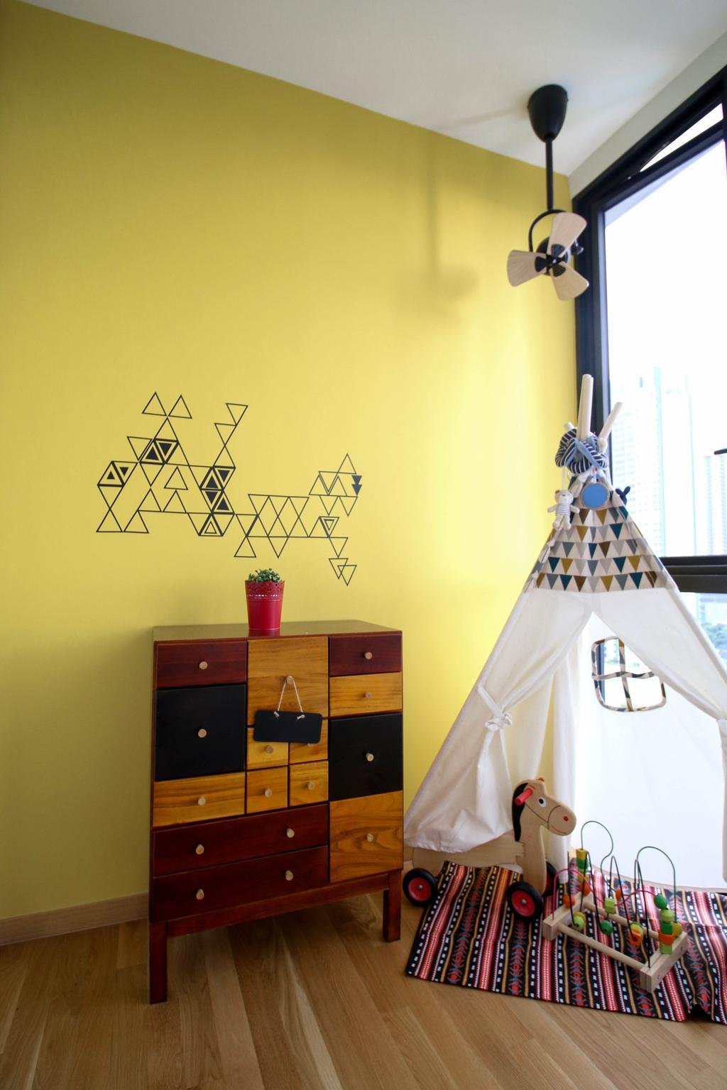 Contemporary, Condo, Bedroom, The Trilinq, Interior Designer, Carpenters 匠, Eclectic, Drawer, Furniture