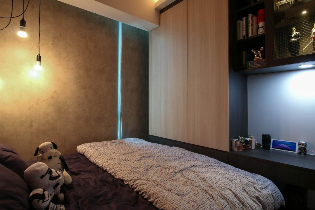 The Terrace, Carpenters 匠, Industrial, Bedroom, Condo, Book, Teddy Bear, Toy, Bed, Furniture, Bookcase