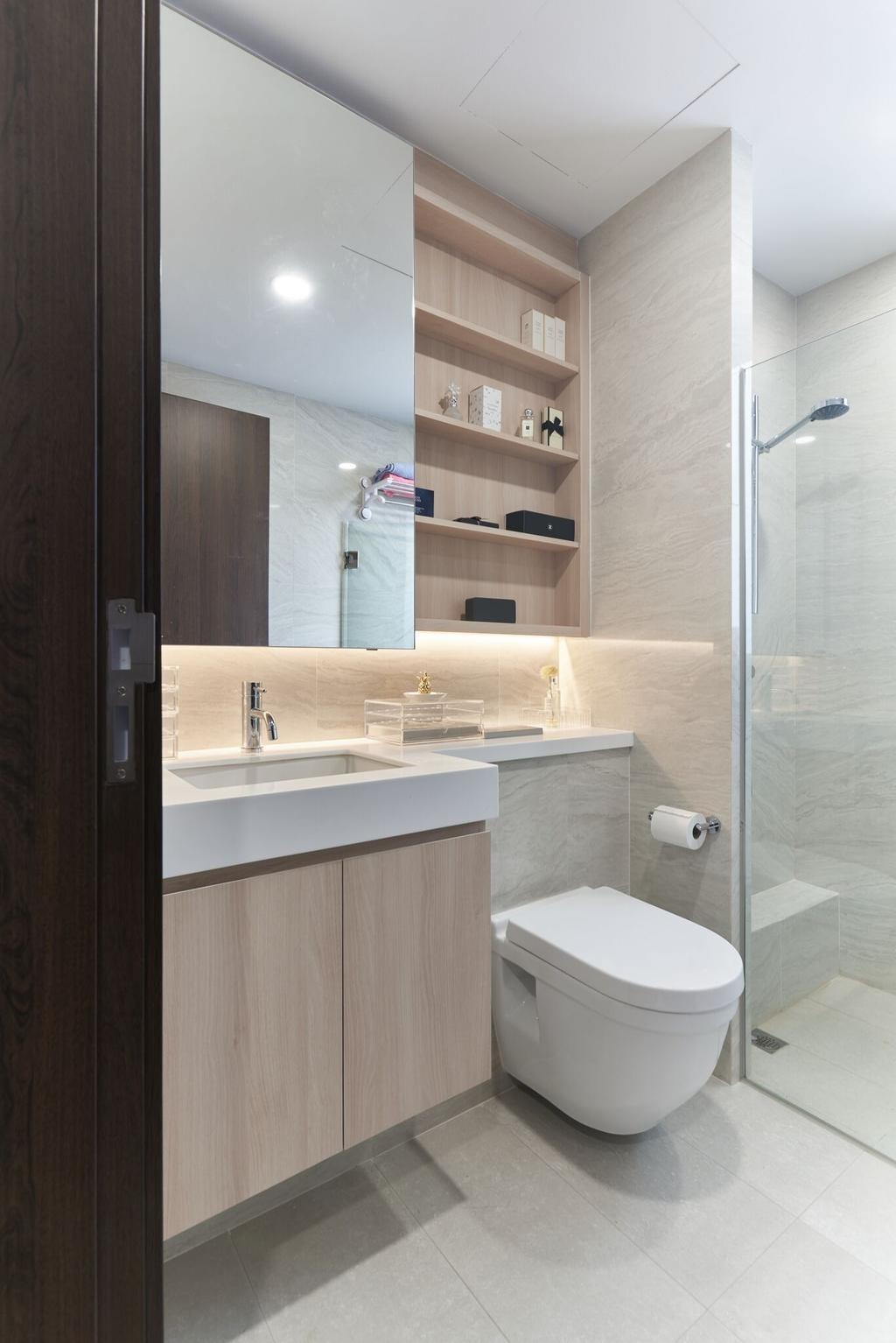 Modern, Condo, Bathroom, Signature @Yishun, Interior Designer, Charlotte's Carpentry, Indoors, Interior Design, Room