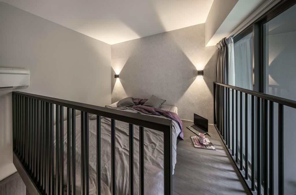 Modern, Condo, Riverbank, Interior Designer, Weiken.com, Banister, Handrail, Staircase, HDB, Building, Housing, Indoors, Loft