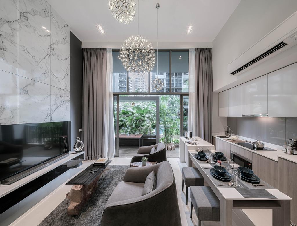 Modern, Condo, Living Room, Riverbank, Interior Designer, Weiken.com, Couch, Furniture, Indoors, Interior Design