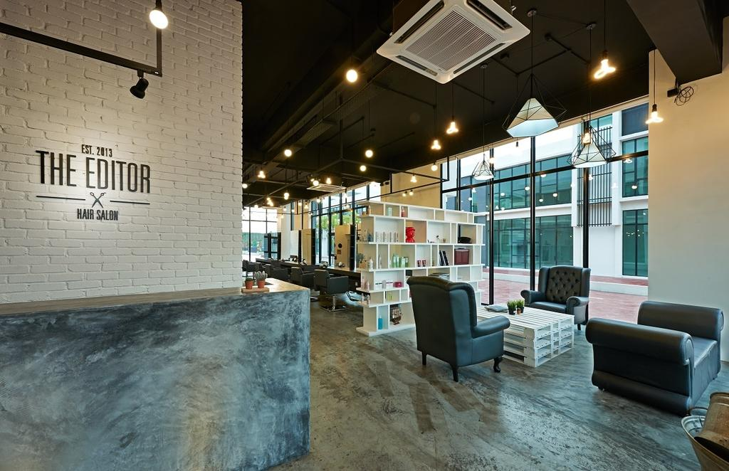 The Editor Hair Salon Ground Floor, Commercial, Interior Designer, Surface R Sdn. Bhd., Industrial, Couch, Furniture