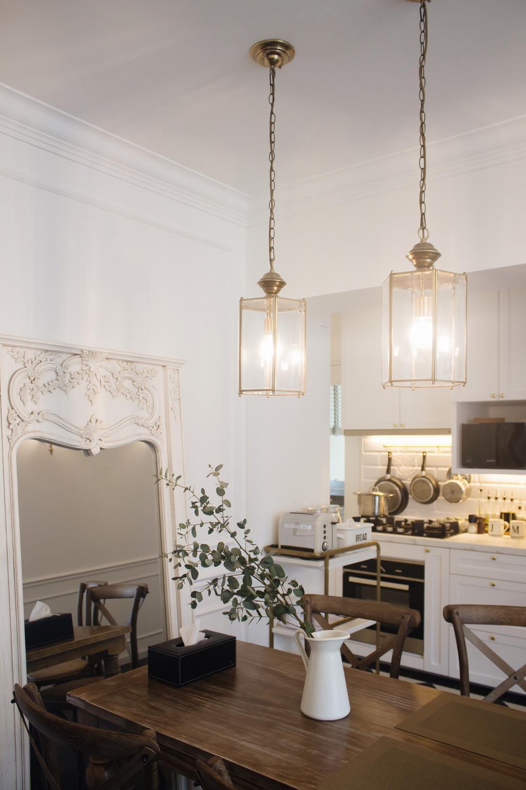 Modern, HDB, Dining Room, Clementi Avenue 4, Interior Designer, Authors • Interior & Styling, Light Fixture, Indoors, Interior Design, Room