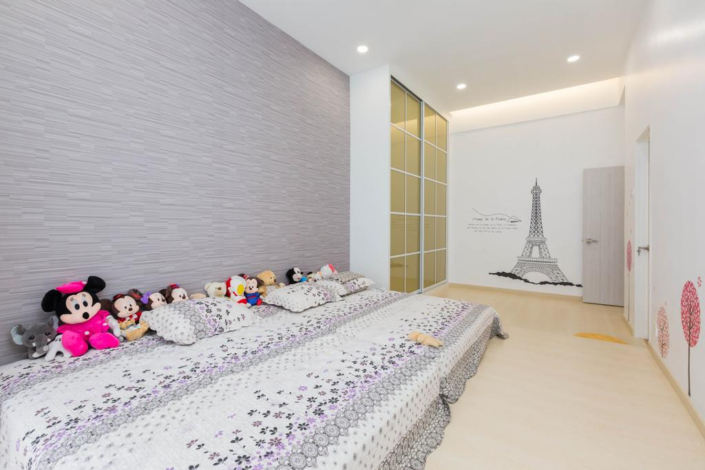 Transitional, Landed, Bedroom, Ferringhi Residences, Interior Designer, Wood & Col Interior Design, Indoors, Interior Design, Room, Toy, Cable, Connector, Electric Transmission Tower, Electrical Device, Power Lines