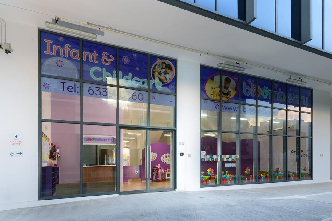 Bloomberry, Meter Square, Contemporary, Commercial, Entrance, Glass Windows
