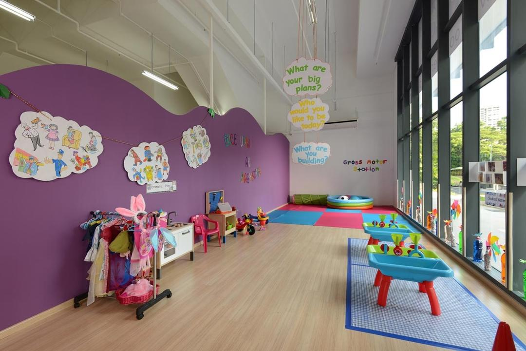 Bloomberry, Meter Square, Contemporary, Commercial, Glass Windows, Lights, Wood Floor, Kindergarten