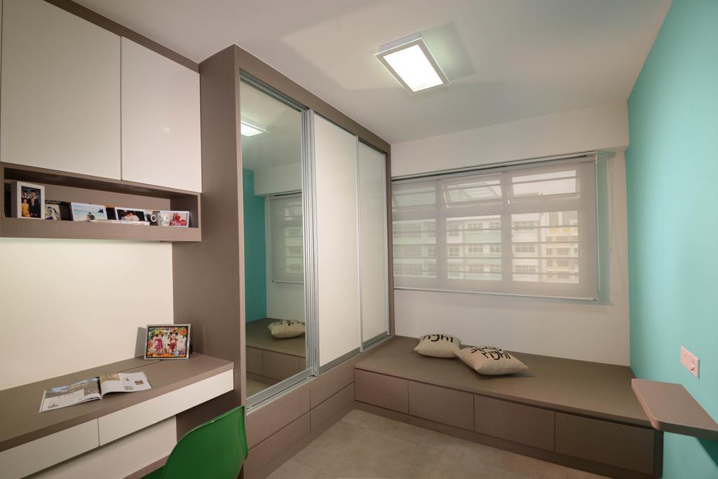 Industrial, HDB, Study, Punggol Walk (Block 212A), Interior Designer, Meter Square, Platform, Cupboard, Wardrobe, Desk, Shelf