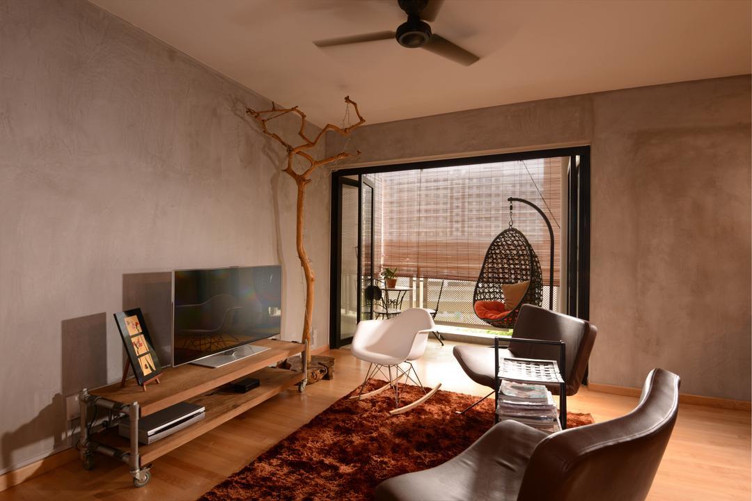 Sengkang East Road, Meter Square, Minimalistic, Living Room, HDB, Ceiling Fan, Tv, Tv Console, Carpet, Chairs, Sofa, Swing, Chair, Furniture, Indoors, Room