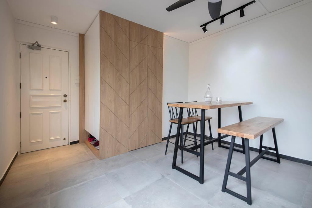 Contemporary, HDB, Dining Room, Simei Street 2, Interior Designer, Anhans Interior Design, Dining Table, Furniture, Table, Chair, Building, Housing, Indoors