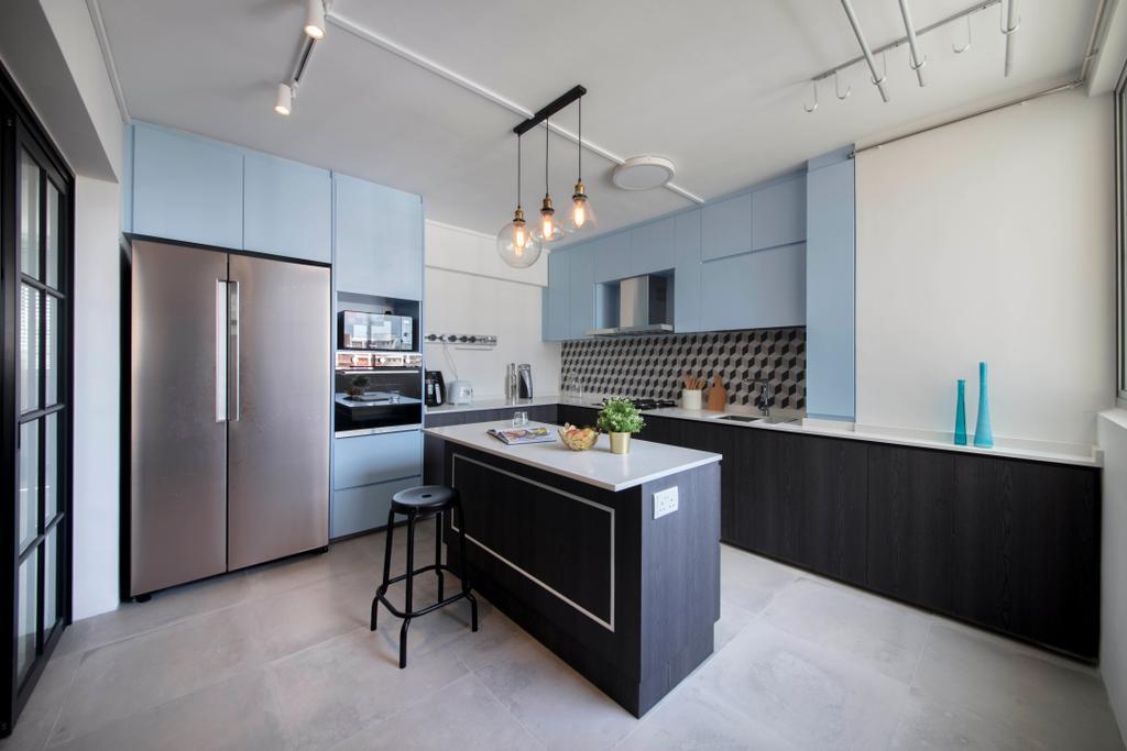 Contemporary, HDB, Kitchen, Simei Street 2, Interior Designer, Anhans Interior Design, Indoors, Interior Design, Room