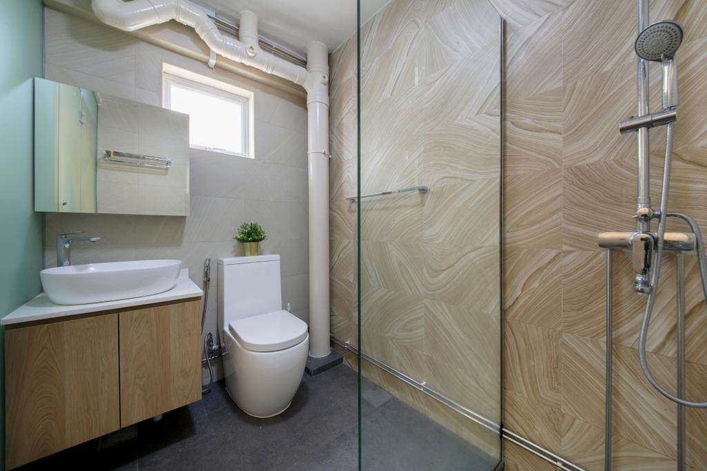 Contemporary, HDB, Bathroom, Simei Street 2, Interior Designer, Anhans Interior Design, Indoors, Interior Design, Room