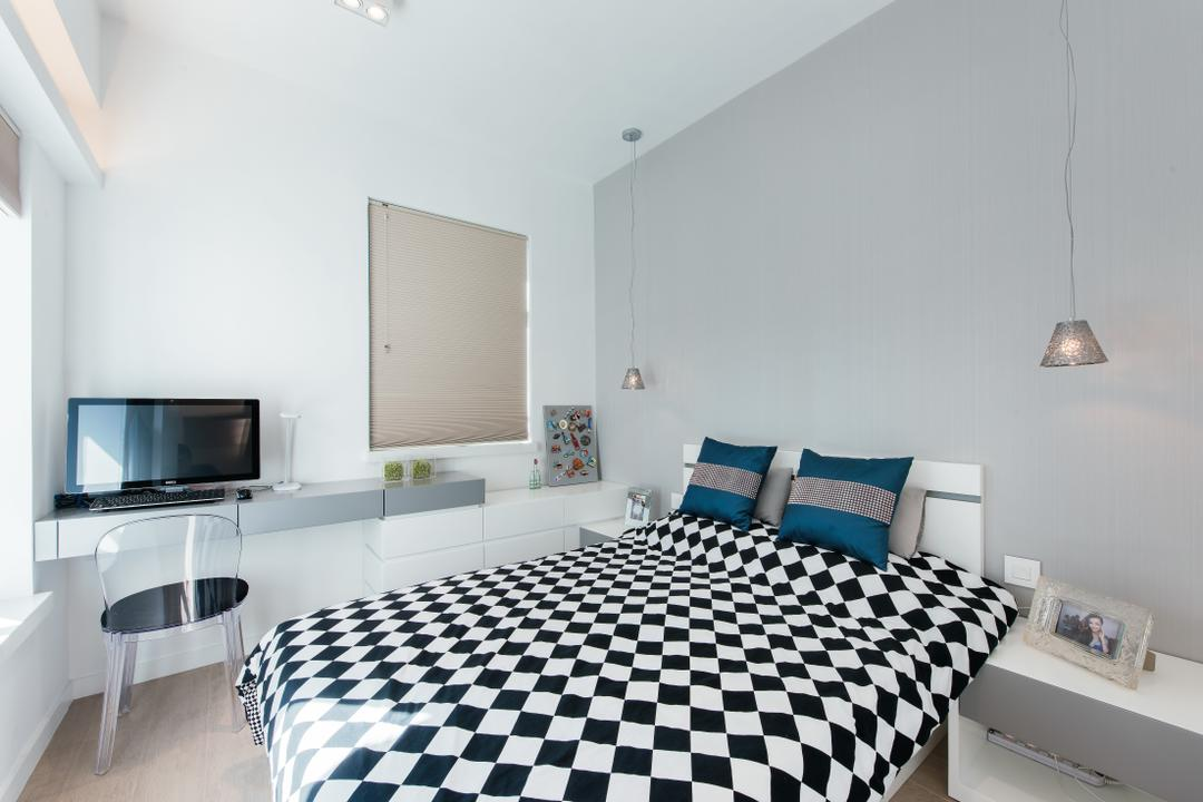 東港城, Space Design, 摩登, 睡房, 私家樓, Indoors, Interior Design, Room, White Board
