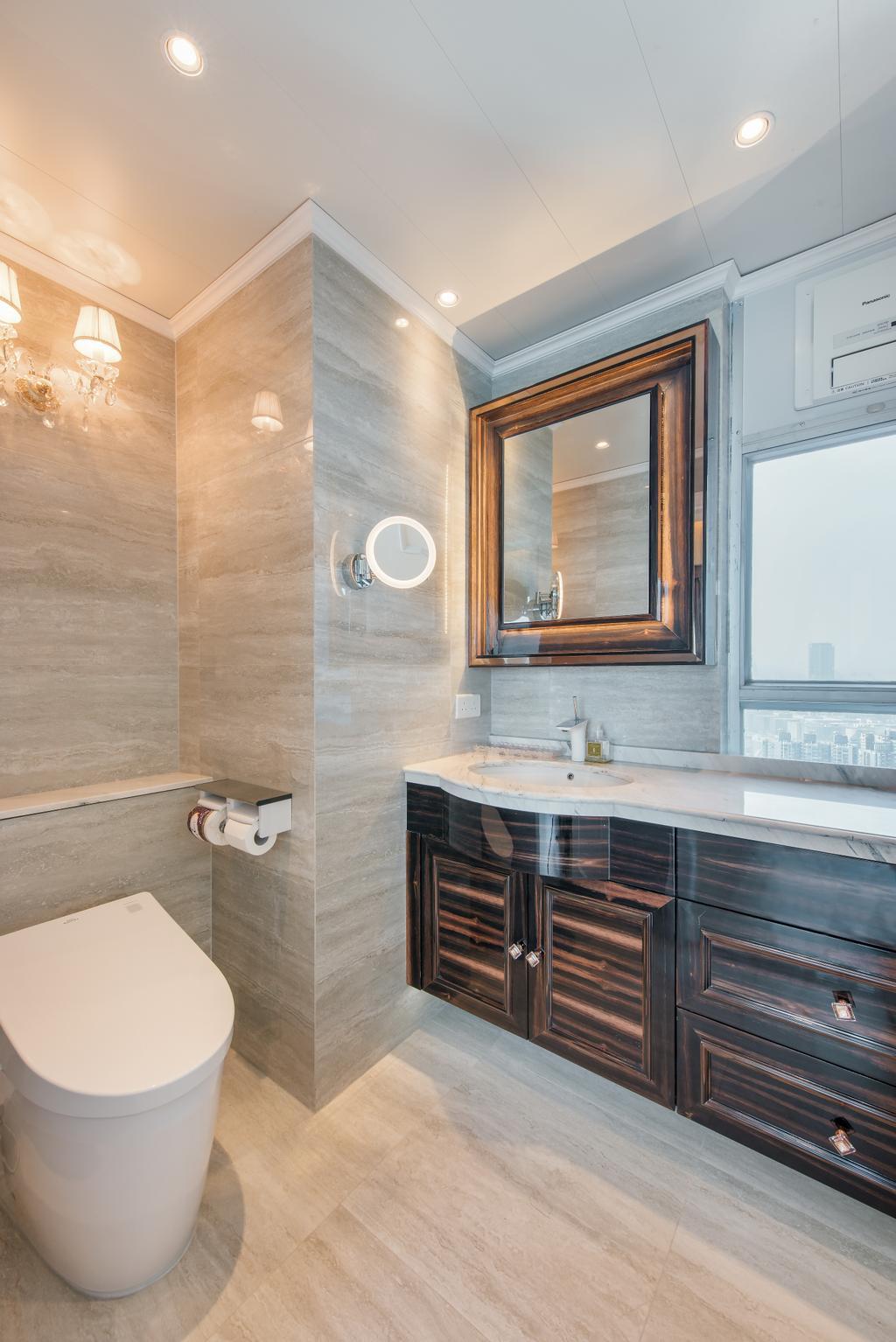 摩登, 私家樓, 浴室, 海明軒, 室內設計師, Space Design, Sink, Indoors, Interior Design, Room