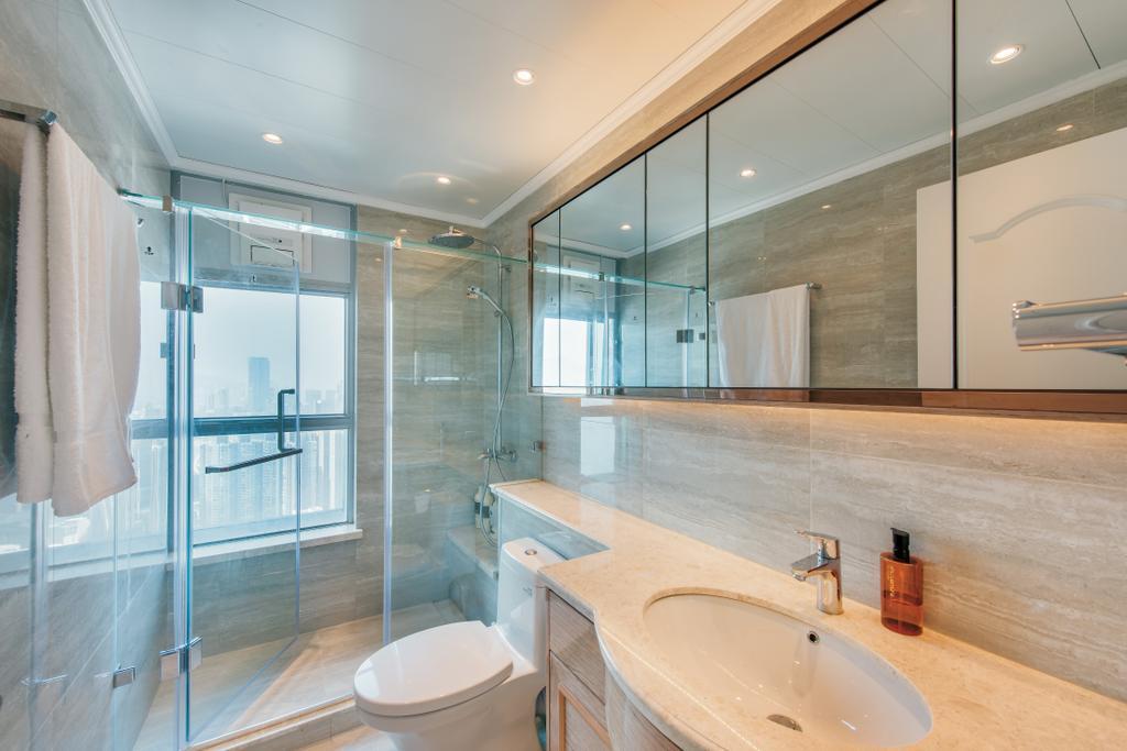摩登, 私家樓, 浴室, 海明軒, 室內設計師, Space Design, Sink, Indoors, Interior Design