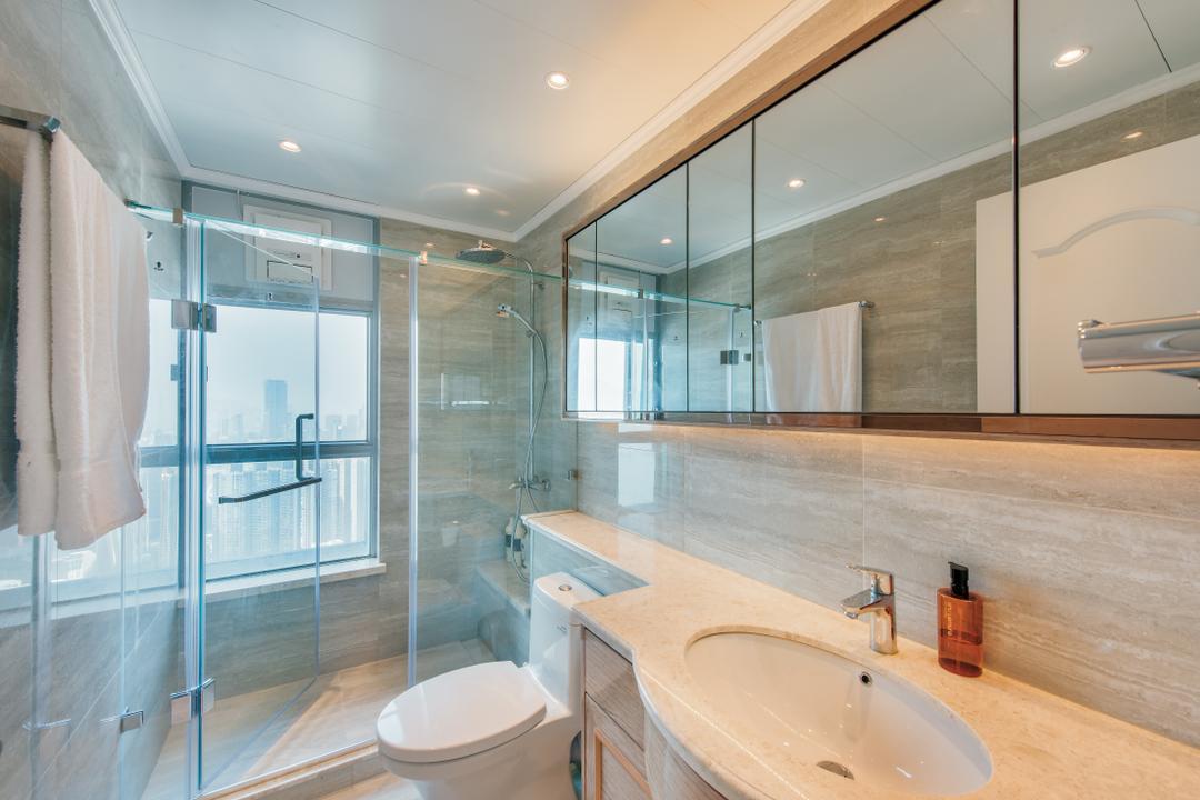海明軒, Space Design, 摩登, 浴室, 私家樓, Sink, Indoors, Interior Design