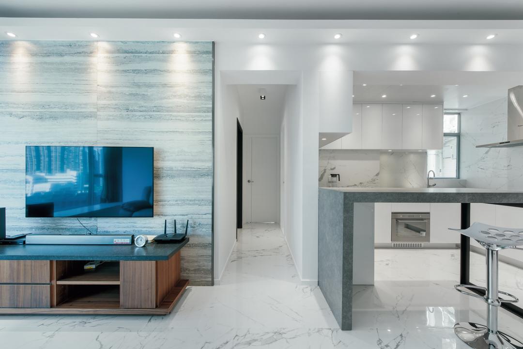 藍天海岸 Living Room Interior Design 8