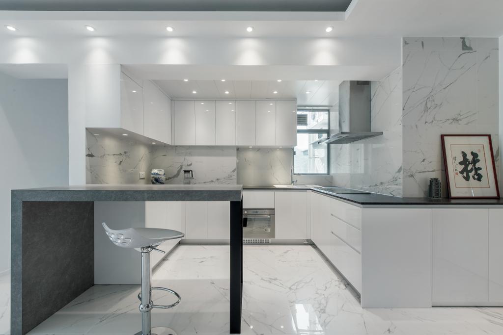 簡約, 私家樓, 飯廳, 藍天海岸, 室內設計師, Space Design, 摩登, Bar Stool, Furniture