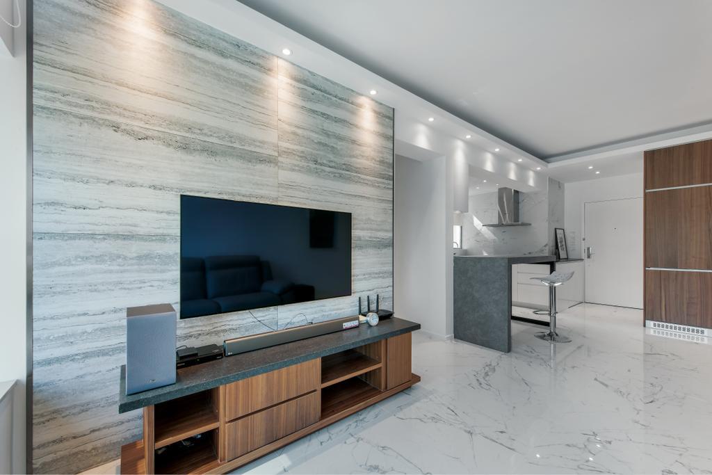 簡約, 私家樓, 客廳, 藍天海岸, 室內設計師, Space Design, 摩登