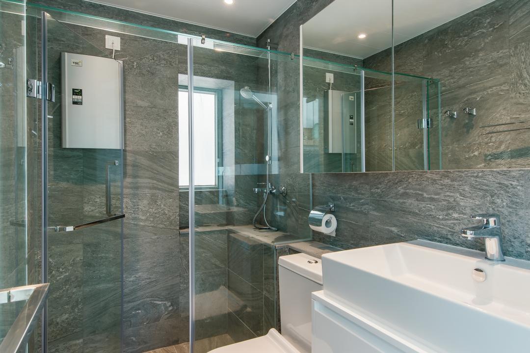 藍天海岸, Space Design, 簡約, 摩登, 浴室, 私家樓, Indoors, Interior Design, Room, Sink
