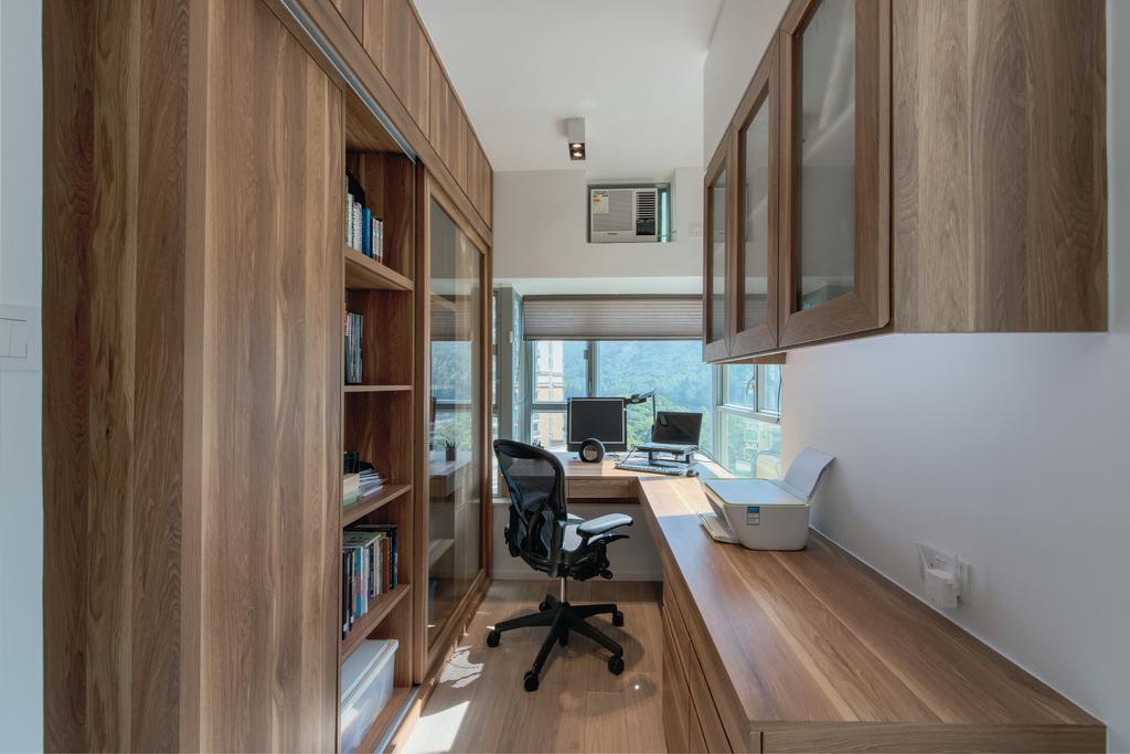 簡約, 私家樓, 書房, 藍天海岸, 室內設計師, Space Design, 摩登, Indoors, Interior Design