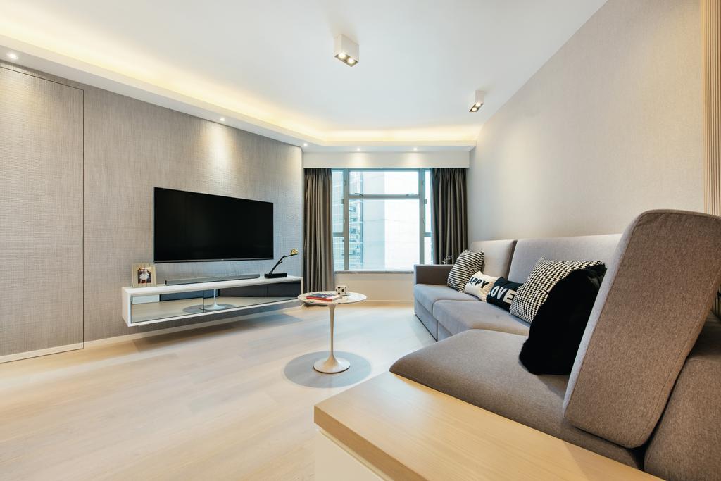 私家樓, 客廳, 港運城, 室內設計師, Space Design, Couch, Furniture, Indoors, Room, Interior Design