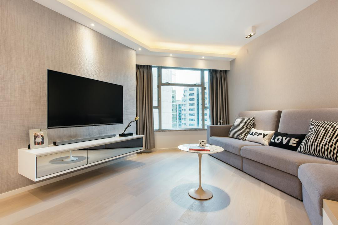 港運城, Space Design, 客廳, 私家樓, Couch, Furniture, Indoors, Interior Design, Electronics, Lcd Screen, Monitor, Screen, Room