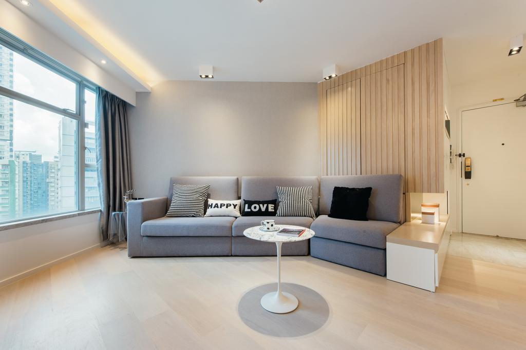 私家樓, 客廳, 港運城 (Island Place), 室內設計師, Space Design, Couch, Furniture, Flooring, Indoors, Interior Design