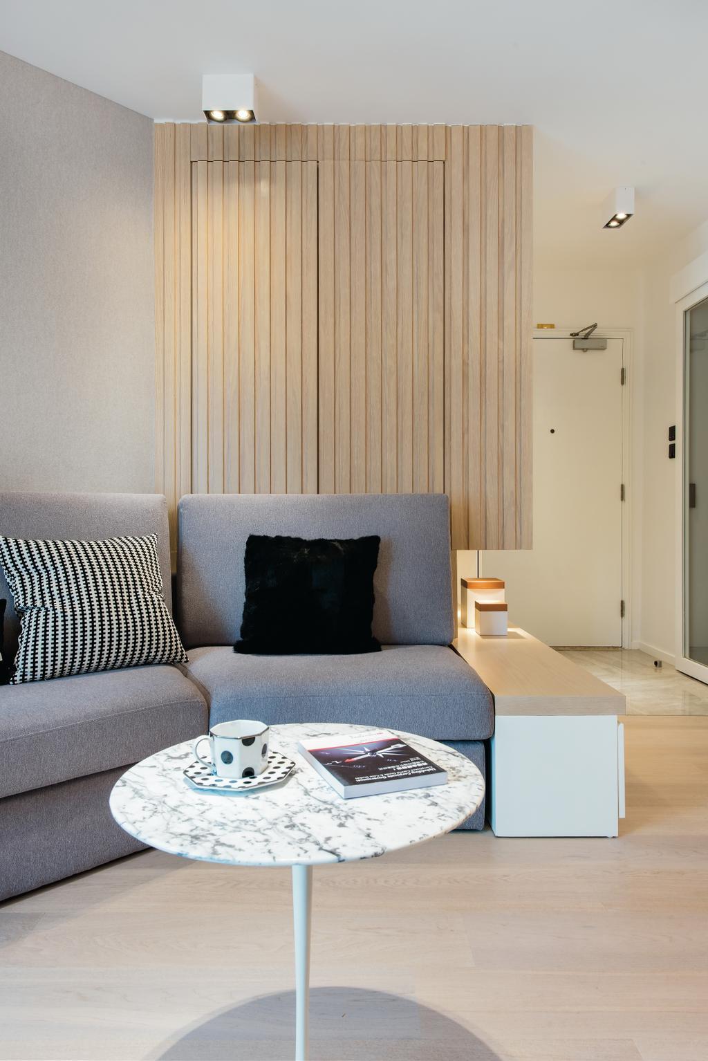 私家樓, 客廳, 港運城 (Island Place), 室內設計師, Space Design, Couch, Furniture