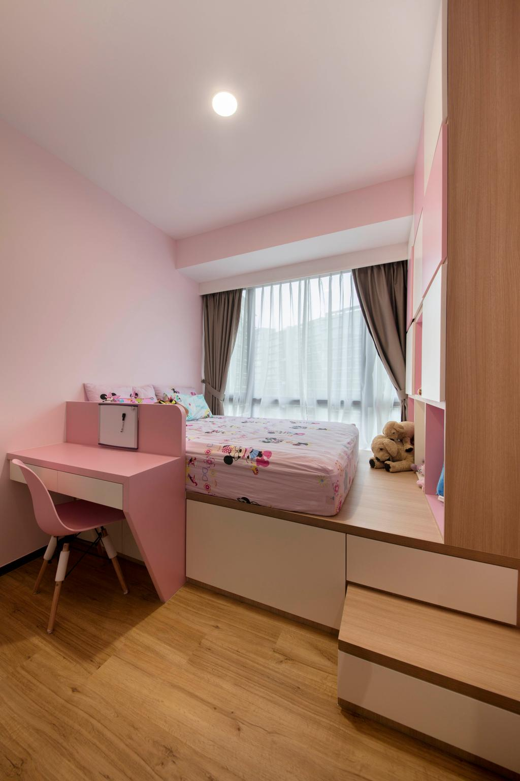 Modern, Condo, Bedroom, D'Nest, Interior Designer, Ascenders Design Studio, Teddy Bear, Toy, Chair, Furniture