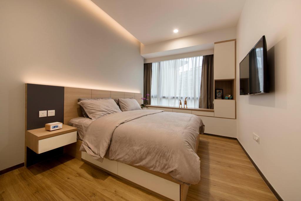 Modern, Condo, Bedroom, D'Nest, Interior Designer, Ascenders Design Studio, Bed, Furniture, Indoors, Interior Design, Room