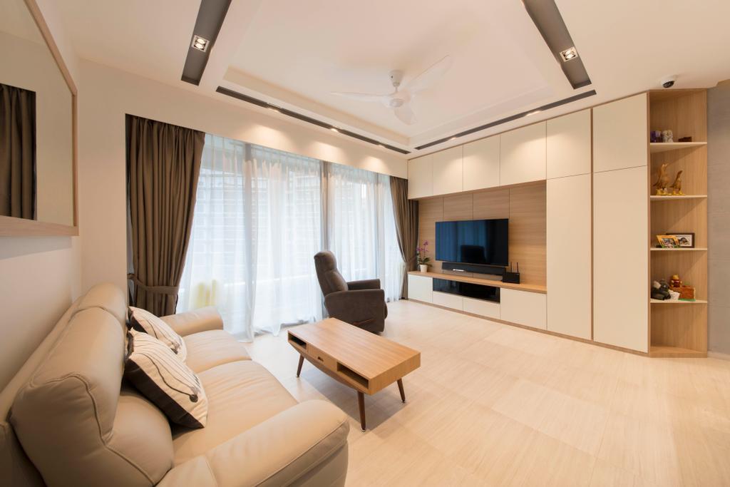 Modern, Condo, Living Room, D'Nest, Interior Designer, Ascenders Design Studio, Indoors, Interior Design, Flooring, Furniture