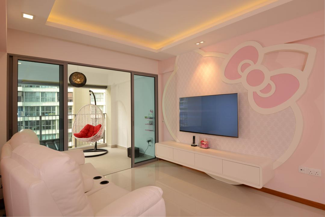 Hello Kitty Interior Design Singapore Interior Design Ideastampines Central  8, Meter Square, Modern,