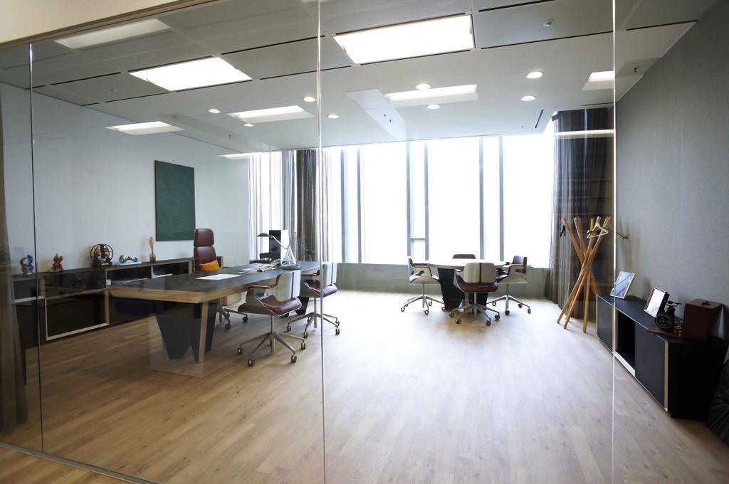 高銀金融國際中心, 商用, 室內設計師, 和生設計, Flooring, Dining Table, Furniture, Table, Indoors, Office