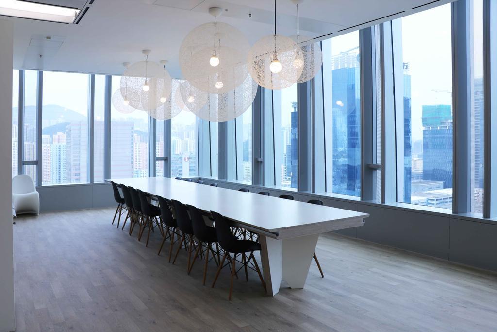 高銀金融國際中心, 商用, 室內設計師, 和生設計, Conference Room, Hardwood, Indoors, Meeting Room, Room, Wood, 飯廳, Interior Design, Dining Table, Furniture, Table, Lamp, Lampshade, Chair