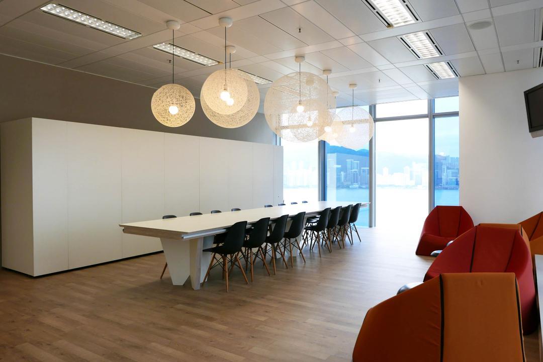 高銀金融國際中心, 和生設計, 商用, Conference Room, Indoors, Meeting Room, Room, Hardwood, Wood, Dining Table, Furniture, Table, Desk, Chair