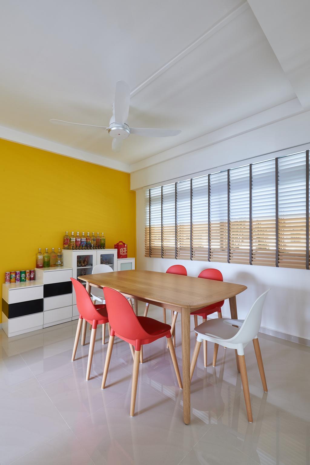 Modern, HDB, Dining Room, Pasir Ris Street 21, Interior Designer, VVID Elements, Chair, Furniture, Indoors, Interior Design, Room, Dining Table, Table