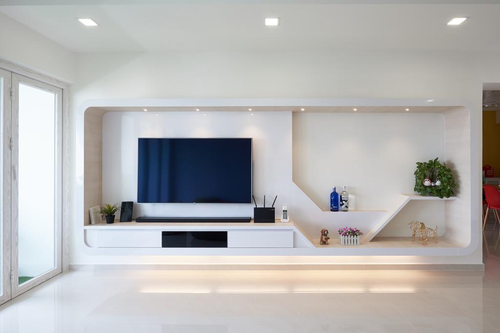 Modern, HDB, Living Room, Pasir Ris Street 21, Interior Designer, VVID Elements, Indoors, Room