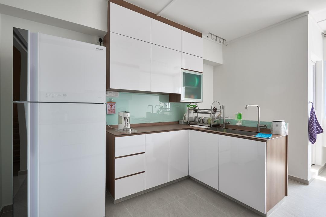 Pasir Ris Street 21, VVID Elements, Modern, Kitchen, HDB, Furniture, Sideboard, Appliance, Electrical Device, Fridge, Refrigerator, Indoors, Interior Design, Room