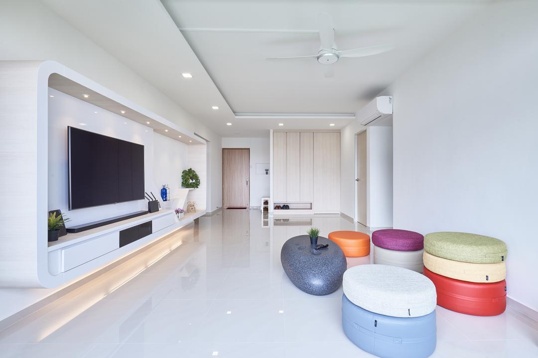 Pasir Ris Street 21, VVID Elements, Modern, Living Room, HDB, Indoors, Interior Design, Tape