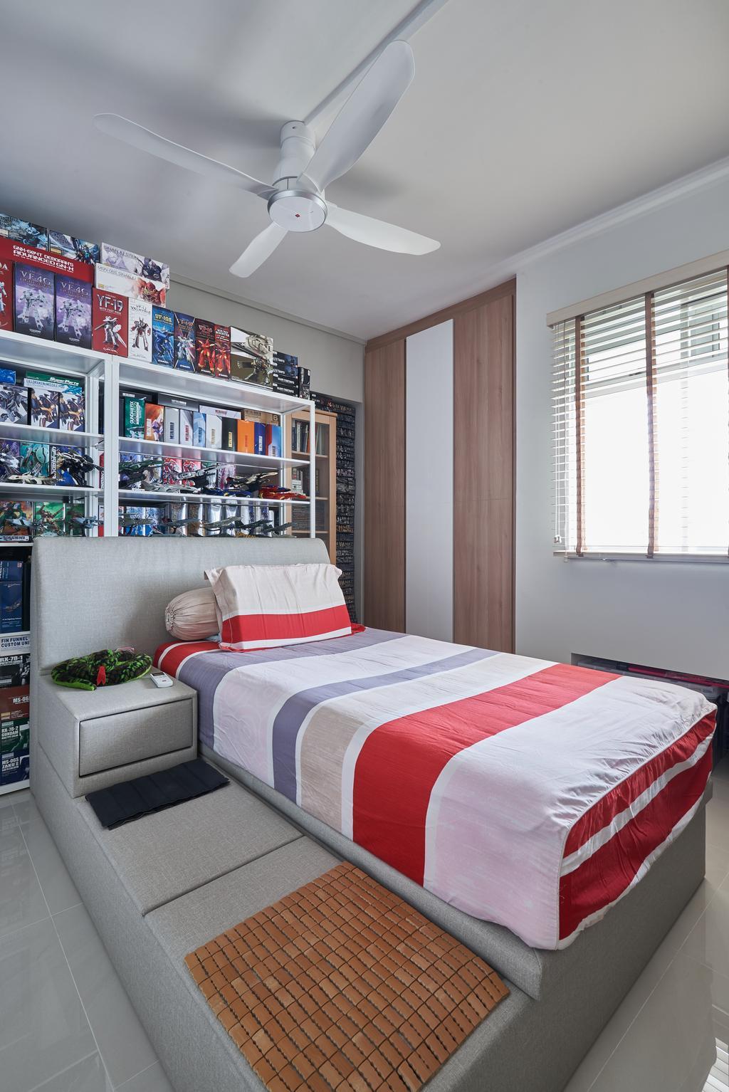 Modern, HDB, Bedroom, Pasir Ris Street 21, Interior Designer, VVID Elements, Couch, Furniture, Bed, Indoors, Interior Design, Room