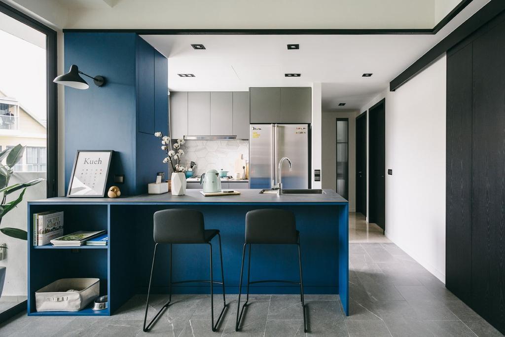 Contemporary, Condo, Dining Room, Seventy Saint Patricks, Interior Designer, Habit, Shelf, Chair, Furniture