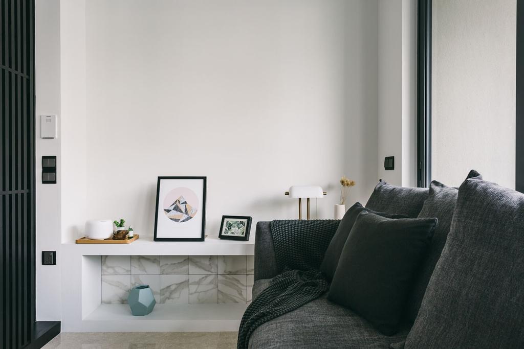 Contemporary, Condo, Living Room, Seventy Saint Patricks, Interior Designer, Habit, Couch, Furniture