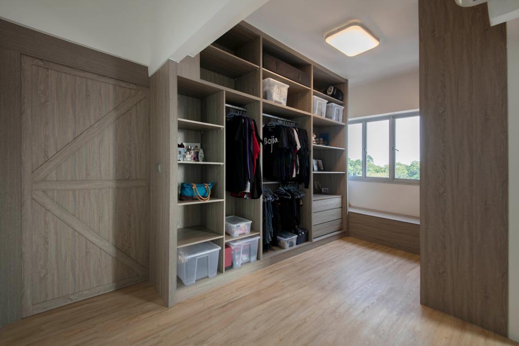 Industrial, HDB, Depot Road, Interior Designer, Goodman Interior, Closet, Furniture, Wardrobe