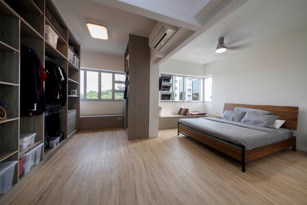 Industrial, HDB, Bedroom, Depot Road, Interior Designer, Goodman Interior, Floor, Bed, Furniture, Flooring